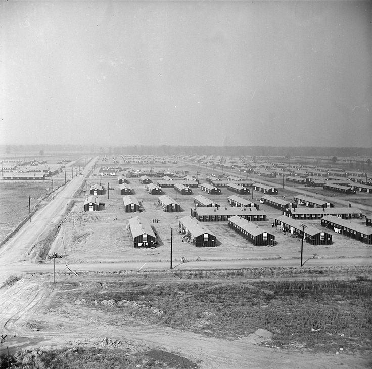 [Photo] View of the Jerome War Relocation Center, looking ...