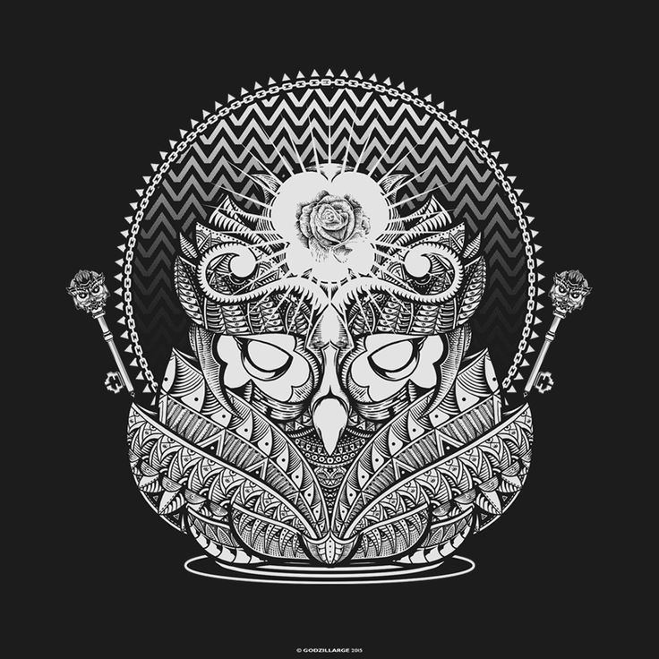 One of my latest Owl work so far. Try to make it simple at the first time but my hand want to keep drawing.  Become a Patron if you want to see the process https://www.patreon.com/GODZILLARGE   thank you
