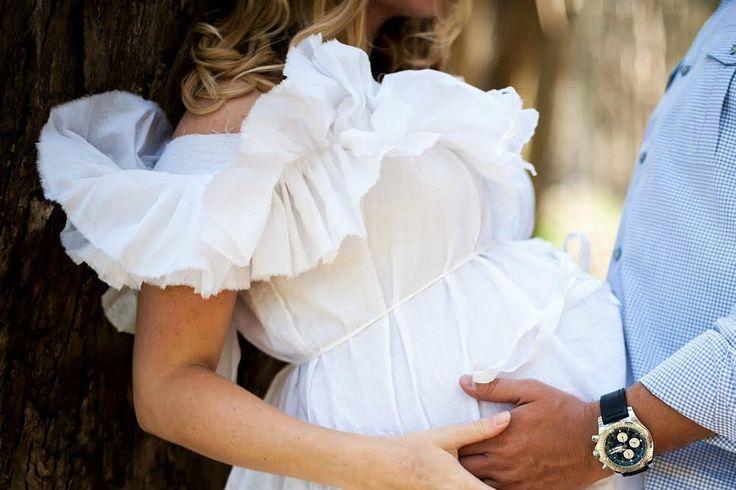 Off Shoulder Maternity Dress Ruffled White Prenatal Photo Patisserie Knee Length Womens Custom Order by SavoyFaire on Etsy https://www.etsy.com/listing/186021587/off-shoulder-maternity-dress-ruffled