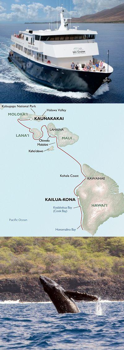 7-day cruises to Hawaii. Cruise around the Hawaiian Islands including stops at the big island of Hawaii, Maui, Lanai and Molokai.