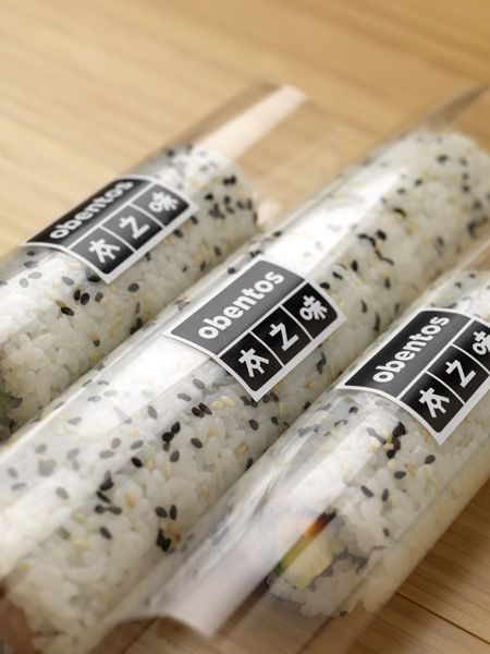 Sushi packaging for healthy Japanese restaurant Obentos in Central Park