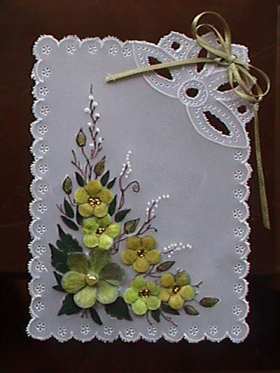 Pretty for card front