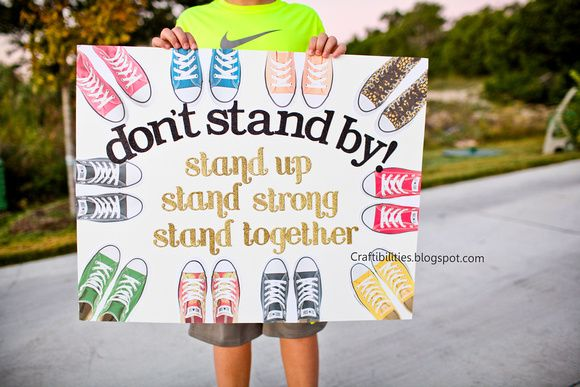 Craftibilities: OCTOBER Anti-Bullying Campaign - POSTER IDEAS                                                                                                                                                                                 More