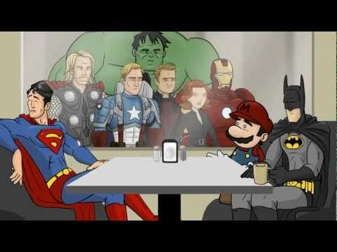 All the Superhero Café clips from How It Should Have Ended - HISHE.    This is one of my absolute favorite things.    No copyright infringement intended, all rights belong to HISHE