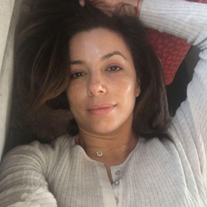 Eva Longoria Shares a Totally Gorgeous No-Makeup Selfie from InStyle.com