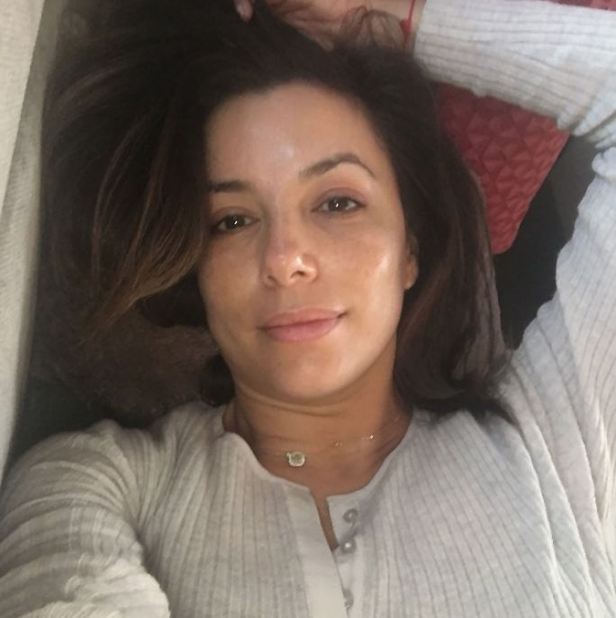 Bare-Faced Celebs: The Best No-Makeup Selfies on Instagram - Eva Longoria from InStyle.com