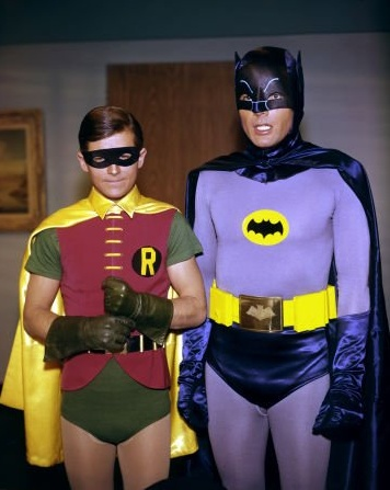 Batman (1966)   Photos with Adam West (Batman), Burt Ward (Robin).