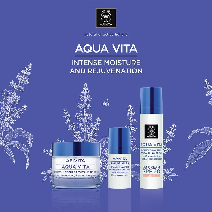Discover the new #face of #AquaVita: intensive #moisture, #rejuvenation, #antiaging protection! Offers instant hydration, 24h action, enhances & maintains skins' youthful appearance , protects from premature ageing & environmental pollution,revitalizing action & promotes wellbeing  Read more at www.apivita.com