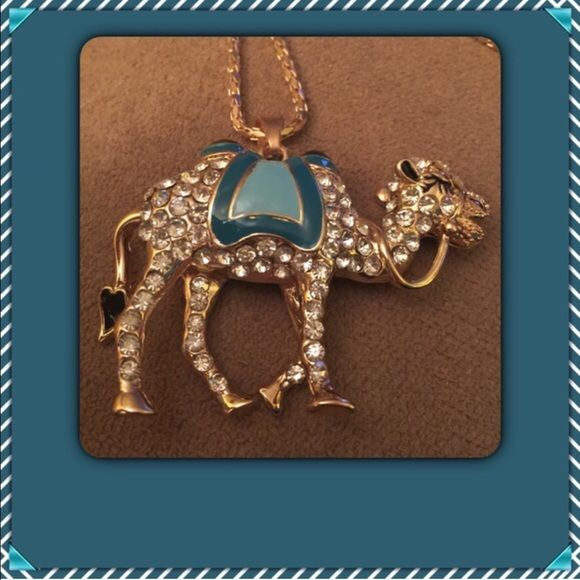 Camel Necklace NEW Betsey Johnson Stylish necklace adorned with rhinestones on a gold chain. NEW Jewelry Necklaces