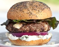 Black and Blue Burger | Wisconsin Milk Marketing Board from foodiecrush.com.  Mouth-watering photo...