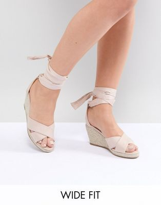 f44a492732a Truffle Collection Wide Fit Espadrille Wedge Sandal