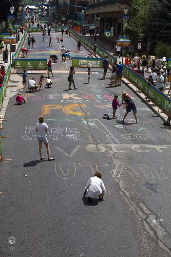 city chalk party