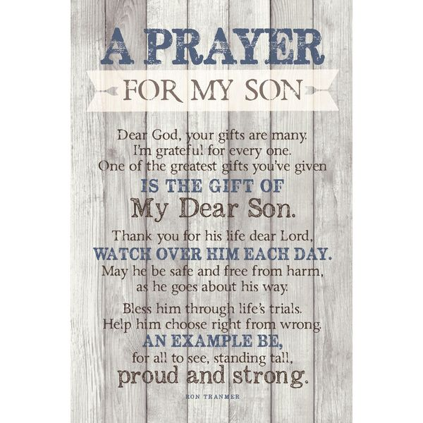 Dexsa Prayer For My Son New Horizons Wood Plaque with Easel