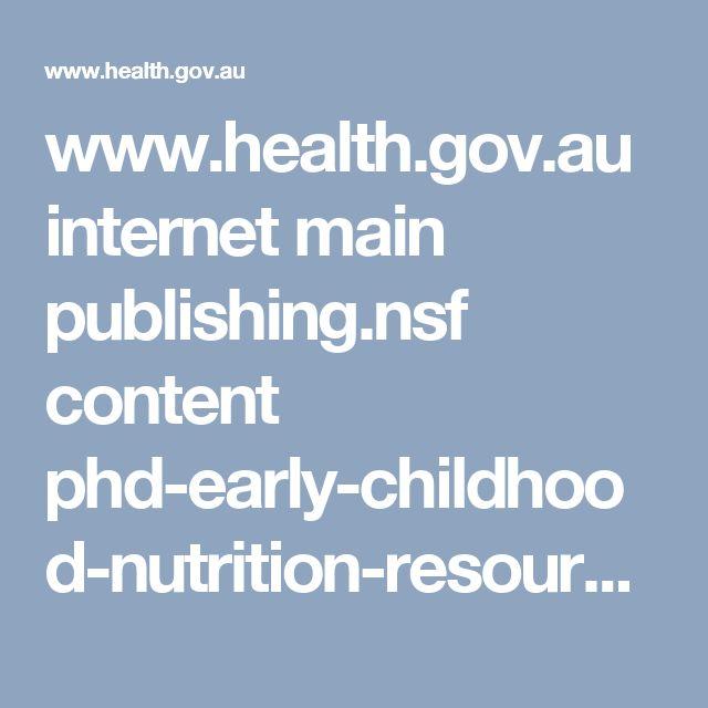 www.health.gov.au internet main publishing.nsf content phd-early-childhood-nutrition-resources