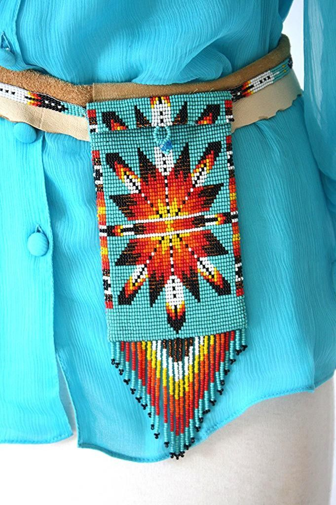 Pat Dahnke Beaded Deerskin Belt/Cell Phone Holster -#CowgirlChic