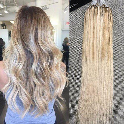 Human Hair Micro Ring Loop Ombre Human Hair Extensions | Fullshine – Full Shine