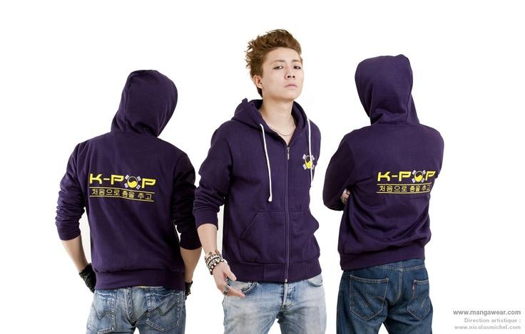 Veste K-pop violette pour homme