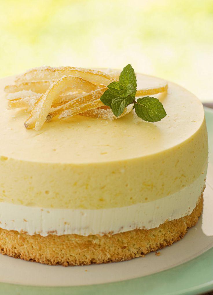 Cake+mousse+de+mango+y+queso+crema+con+biscuit+de+coco+(light)