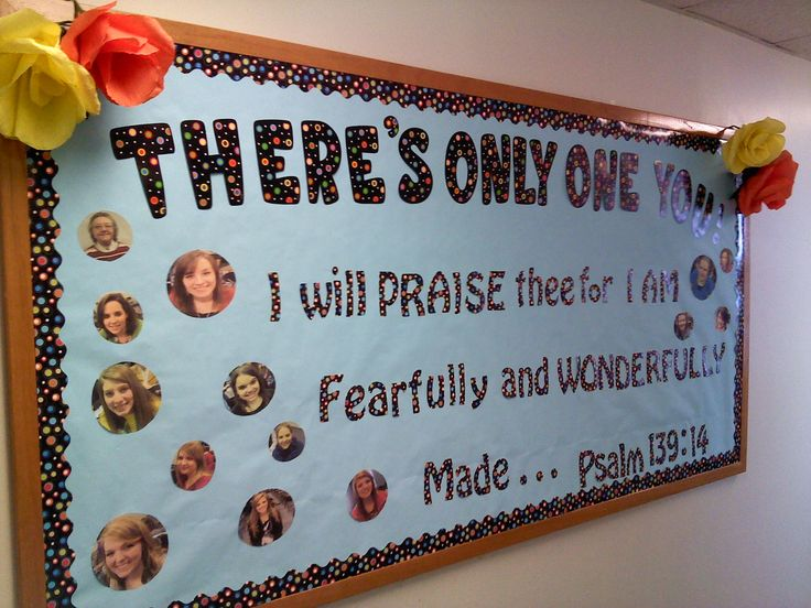 Bulletin Board Idea for teaching on how God made us special.