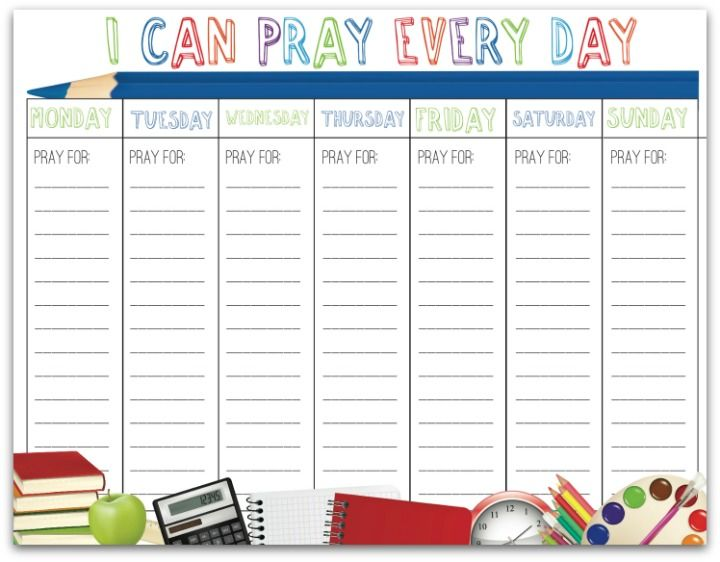 Back to School Prayer Calendar (Ministry-To-Children.com)