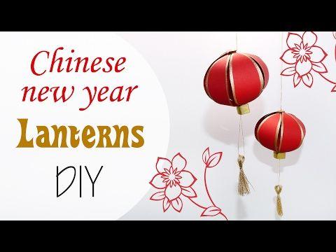 Lanterne Cinesi di carta - China paper Lanterns new year DIY - YouTube
