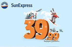 Sun Express Uçak Bileti 49 TL | KolayBiletHatti.com