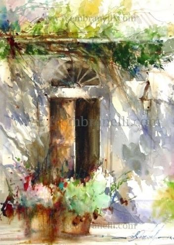 Stresa, painting by artist Fabio Cembranelli