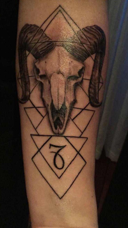 30 of the best virgo tattoo designs tattoo easily -  Capricorn Animal Skull Tattoo Zodiac Art Astrology