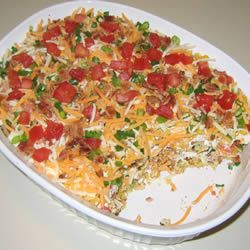 Cornbread Salad I Allrecipes.com   ( sound odd but it is realy good had this at a fish fry at my church..)  Thanks Tonya