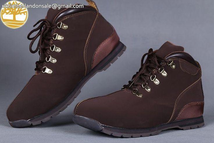 Custom Timberland Mens Boots Euro Sprint Chocolate Boots $95.99