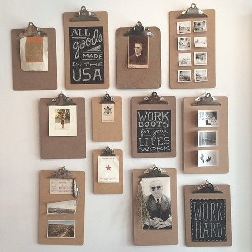 20 Interiors that Actually Inspire. Messagenote.com Take the pictures off the walls in the room w the bar and hang clip board with engagement pics