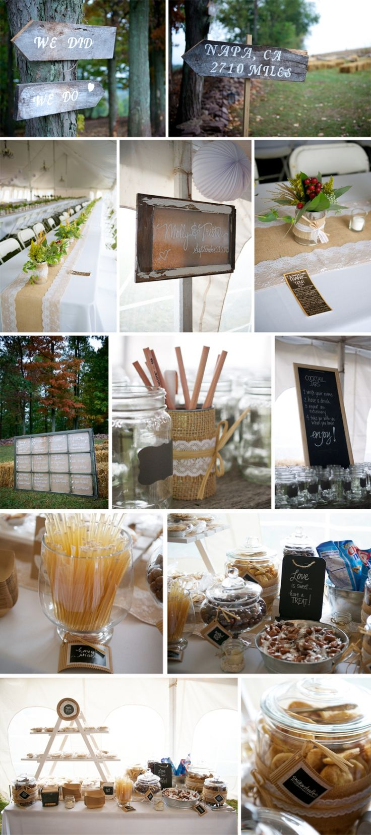 Central PA Farm Wedding Reception Ideas  | Chalkboards, Hand-painted Signs, Dessert Table  © Ashley Wittmer Photography
