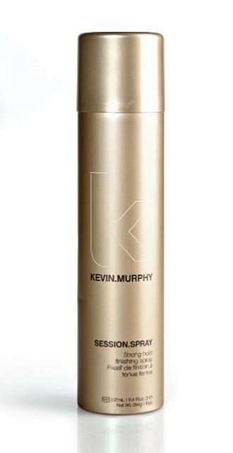 The Best hair spray: Kevin.Murphy Session Spray! Shiny finish with no frustrating white specs the nest day! Strong hold with easy next day restyling. Find it at the salon!