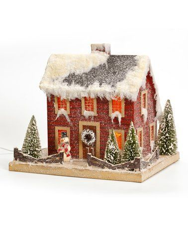 Loving this Red Colonial Christmas House Décor on #zulily! #zulilyfinds