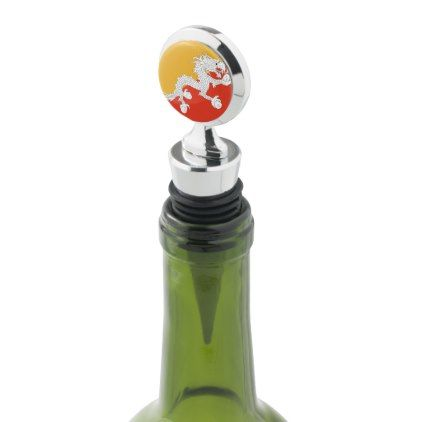 #Bhutan Flag Wine Stopper - #country gifts style diy gift ideas