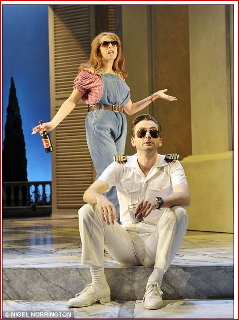 2011 - 'Much Ado About Nothing' Catherine Tate (Beatrice) and David Tennant (Benedick) try to get along. Wyndham's Theatre, London
