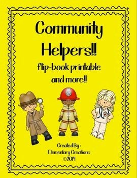 Community Helpers flip book and more!
