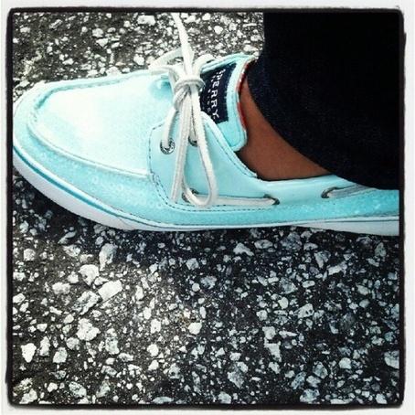 tiffany blue sperrys