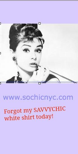 The must DId you forget? # Savvychic # white shirt ! # sochicnyc.com