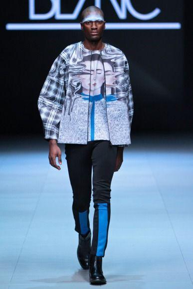 Blanc unisex fashion, Trans collection, printed jacket