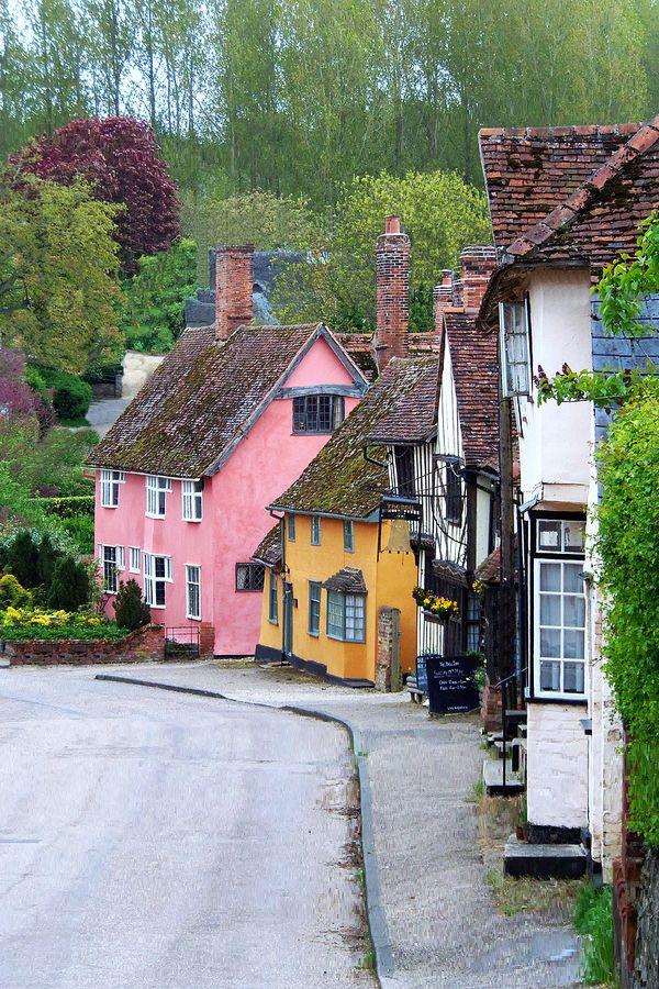 Village of Kersey, Suffolk, England
