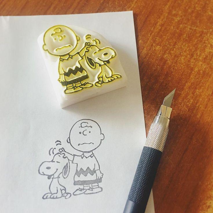 おはようございます * チャーリーとスヌーピーの消しゴムはんこ。 やっぱりこの2人の組み合わせ好きだなぁ。 * なんかチャーリーの下っ腹出てない?下書きする時曲がっちゃったかな〜 * * 今日も1日頑張りましょう〜✊✨ * * #スヌーピー #チャーリーブラウン #消しゴムハンコ #消しゴムはんこ #消しハン #けしはん
