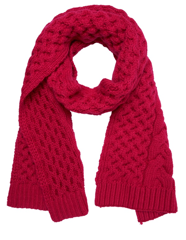 Red cable knit scarf #GapLove