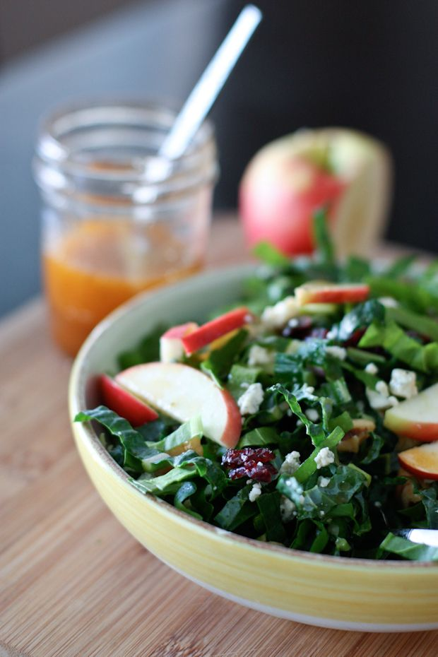 Kale and Chard Green Power Salad with Maple Vinaigrette   Aggie's Kitchen