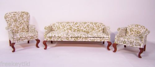 LIVINGROOM-CHADWICK-MILLER-COUCH-CHAIRS-Miniature-Doll-House-Furniture-Sofa-OOAK