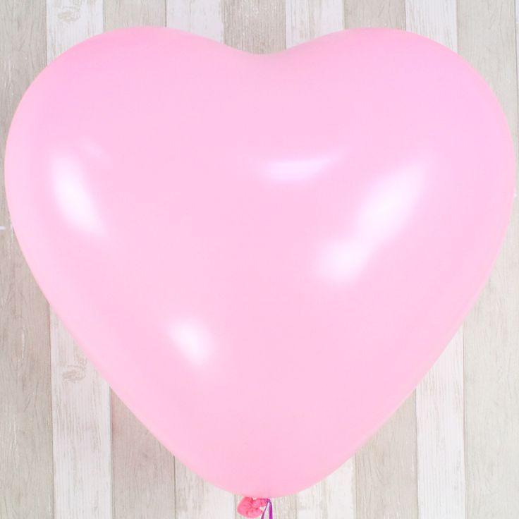 1 Шт. 24 дюймов Большой Розовое Сердце Латексные Шары День Рождения Свадьба Украшения Романтический Воздушные Шары с Хорошим качеством
