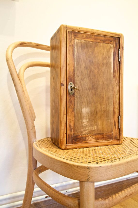 Vintage Wooden Box Key and Mail Cabinet  by BarcelonaDecoLab