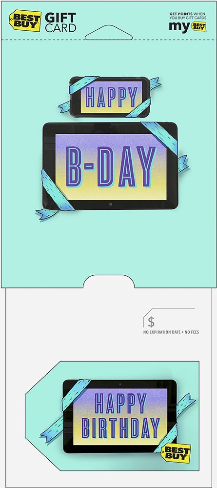 Best Buy Gift Card - $15 Happy Birthday Tablet Gift Card - Multi
