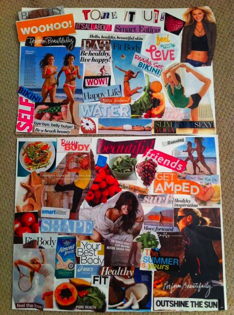 Create a vision board to express your goals and inspiration