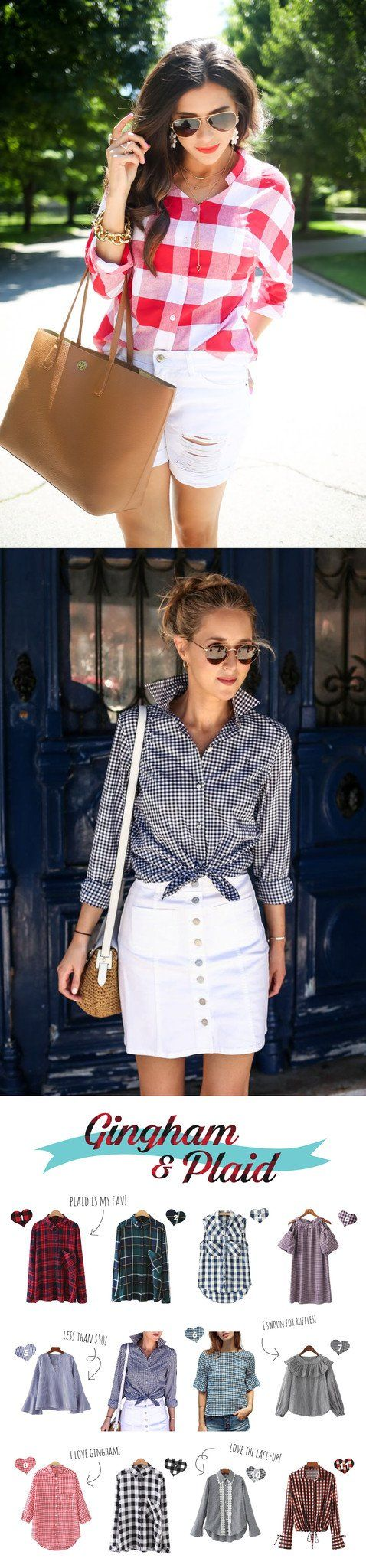 Gingham & Plaid Outfit Ideas Spring 2017 - www.goodnightmacaroon.co Emily Ann Gemma, Mary Orton Fashion Blogger